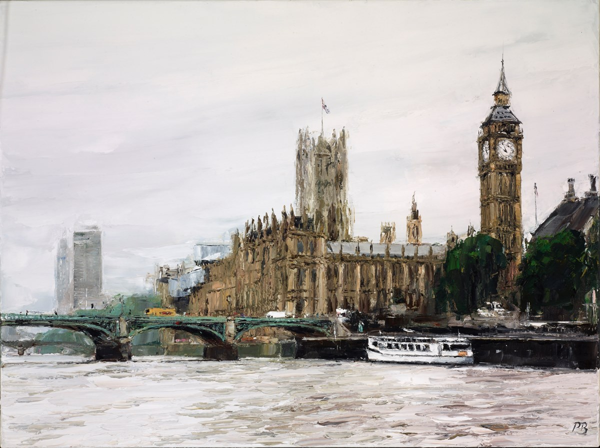 Westminster Palace by david porteous butler -  sized 32x24 inches. Available from Whitewall Galleries